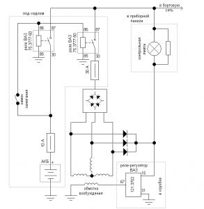 Схема підключення реле до замка мт